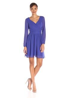 Jessica Simpson Women's Chiffon Wrap Dress