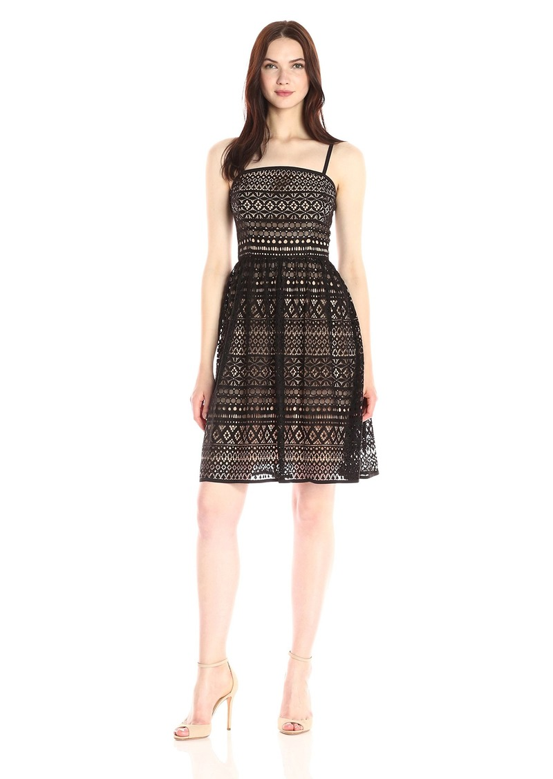 Jessica Simpson Women's Contrast Lace Dress