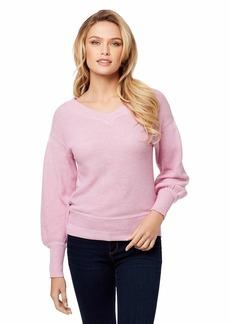 Jessica Simpson Women's Corrin Drop Shoulder Light Weight Sweater  XLarge