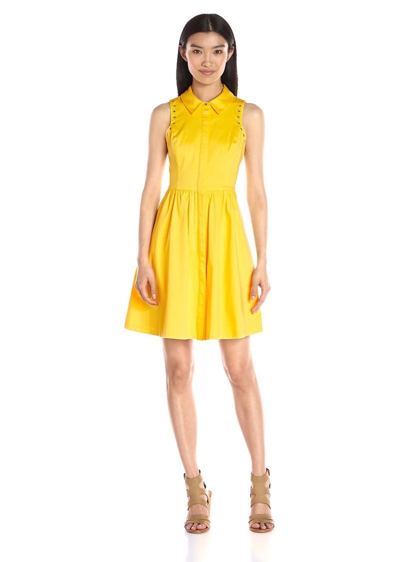 Jessica Simpson Women's Cotton Sateen Shirt Dress
