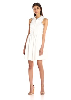 Jessica Simpson Women's Cotton Sateen Shirt Dress