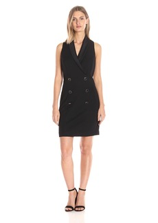 Jessica Simpson Women's Crepe Scuba Tuxedo Dress