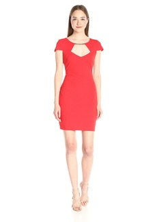 Jessica Simpson Women's Crepe Texture Knit Dress
