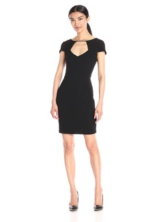 Jessica Simpson Women's Crepe Texture Knit Dress
