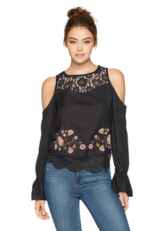 Jessica Simpson Women's Dara Cropped Cold Shoulder Top