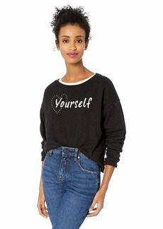 Jessica Simpson Women's Dasha Volume Sleeve Knit Top  X Large
