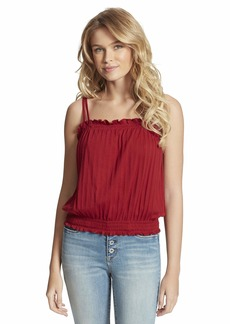 Jessica Simpson Women's Demi Pointelle Banded Smock Tank Top