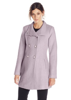 Jessica Simpson Women's Double-Breasted Boucle Wool Coat