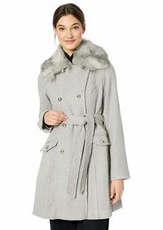 Jessica Simpson Women's Double Breasted Fashion Coat  L