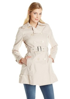 Jessica Simpson Women's Double Breasted Trench Coat with Lace Detail  edium