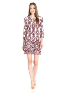 Jessica Simpson Women's ed 3/4 Sleeve Ity Dress