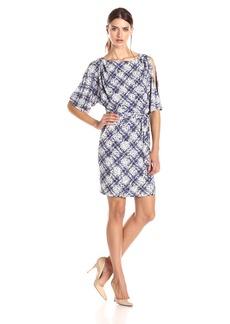 Jessica Simpson Women's ed Boat Neck Dress