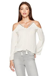 Jessica Simpson Women's Elise Cold Shoulder Top  X Small