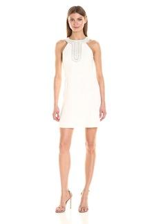 Jessica Simpson Women's Embellished Halter Neck Dress
