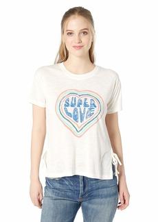 Jessica Simpson Women's Eunice Short Sleeve Graphic Tee Shirt  XSmall