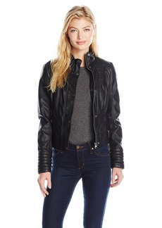 Jessica Simpson Women's Faux Leather Jacket  M