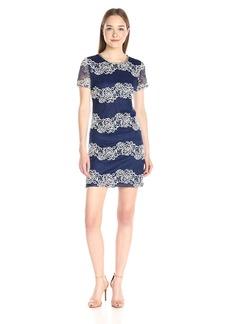 Jessica Simpson Women's Floral 2 Tone Lace Dress