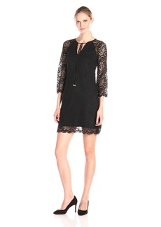 Jessica Simpson Women's Floral Lace Shift Dress