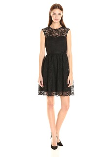 Jessica Simpson Women's Floral Scallop Lace Dress