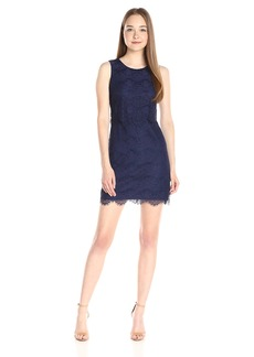 Jessica Simpson Women's Floral Scallop Popover Dress