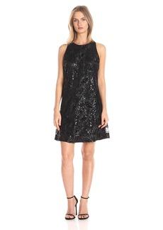 Jessica Simpson Women's Floral Sequin Dress