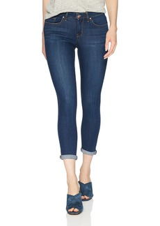Jessica Simpson Women's Forever Roll Cuff Skinny Crop to Ankle Jean Royal