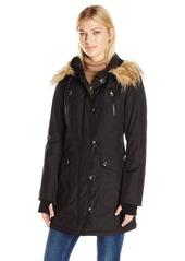 Jessica Simpson Women's Fuax Fur Hooded Parka  S