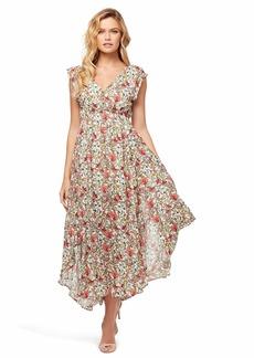 Jessica Simpson Women's Gabbie Pretty Flowy Maxi Dress  XSmall