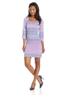 Jessica Simpson Women's Graphic Print Jersey A-Line Dress