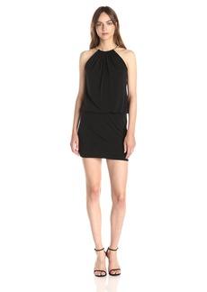 Jessica Simpson Women's Halter Blouson Necklace Dress