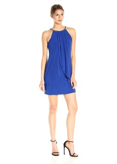 Jessica Simpson Women's Halter Front Drape Dress