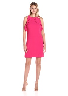 Jessica Simpson Women's Halter Neck Ruffle Dress