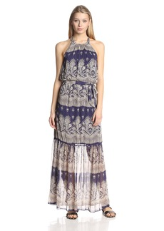 Jessica Simpson Women's Halter Printed Maxi Dress