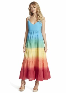 Jessica Simpson Women's Herbs Tiered Ombre Maxi Dress