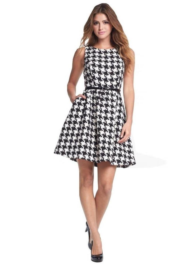 Jessica Simpson Women's Houndstooth-Boucle Tank Dress