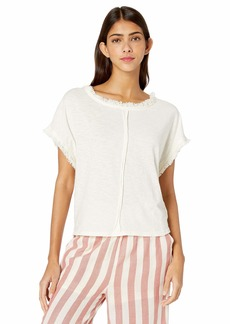 Jessica Simpson Women's Isabella Short Sleeve Scoop Neck Blouson Tee Shirt