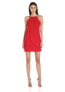 Jessica Simpson Women's Ity Dress with Embellished Halter Neck