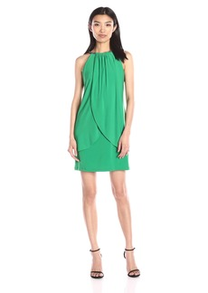 Jessica Simpson Women's Ity Dress with Embellished Halter Necklace