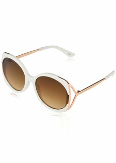 Jessica Simpson J5841 Mod Round UV Protective Mixed Metal Temple Sunglasses | Wear All-Year | The Gift of Glam