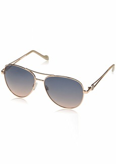 Jessica Simpson Women's J5859 Open Temple Metal Aviator UV Protective Sunglasses | Wear Year-Round | Give as a Gift to Her