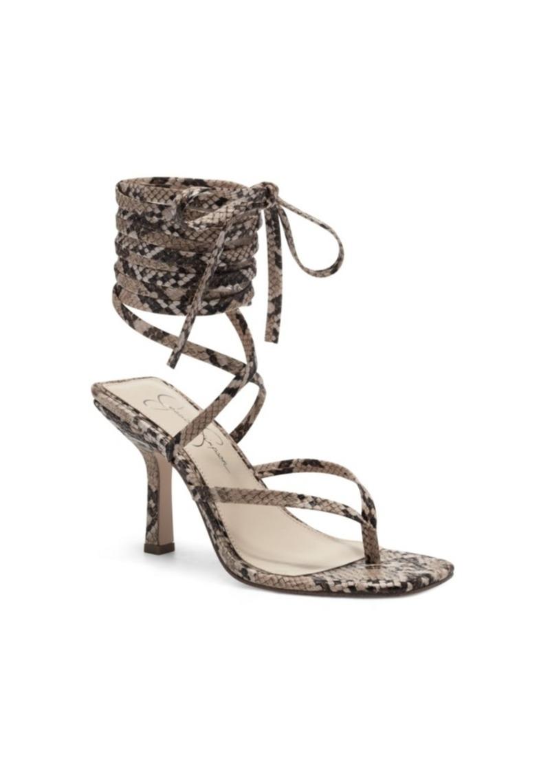 Jessica Simpson Women's Kelsa Ankle Wrap High Heel Dress Sandals Women's Shoes