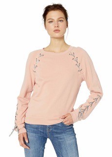 Jessica Simpson Women's Kiana Lace Up Sweatshirt
