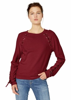 Jessica Simpson Women's Kiana Lace Up Sweatshirt  X Large