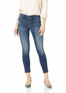 Jessica Simpson Women's Kiss Me Vintage Button Fly Ankle Skinny Jeans