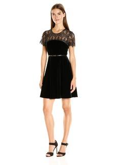 Jessica Simpson Women's Lace and Velvet Combo Dress