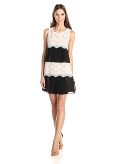 Jessica Simpson Women's Lace Chiffon Dress