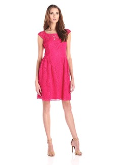 Jessica Simpson Women's Lace Dress with Cap Sleeves