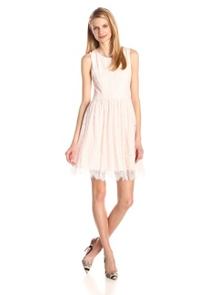 Jessica Simpson Women's Lace Fit and Flare Dress