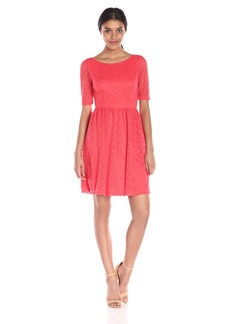 Jessica Simpson Women's Lace Fit-and-Flare Dress