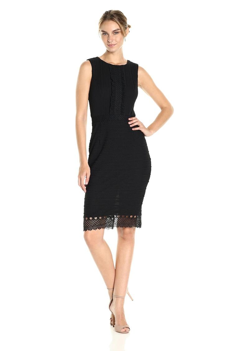 Jessica Simpson Women's Lace Knit Midi Dress